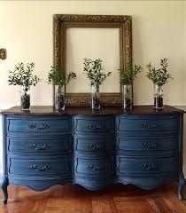 dark blue dresser. Perfect Dark Artculos Similares A VENTA Aparador Vintage Francs Provincial Pintado  Annie Sloan Aubusson Azul Casa De Campo To Dark Blue Dresser T