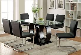 Black Lacquer Modern Table Set