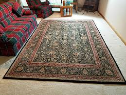 details about oriental weavers of america area rug 7 10 x 10 8 othello black paisley 80s