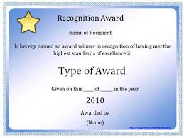 Recognition Awards Certificates Template Award Certification Template