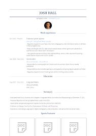 Sample Sports Resume Sports Reporter Resume Samples And Templates Visualcv