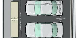 Two Car Garage Size Garages Built Addedminimum Of Width Double Double Car Garage Size