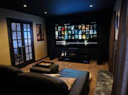 interior stunning images of basement home theater decoration