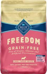 Blue Buffalo Freedom Small Breed Adult Chicken Recipe Grain Free Dry Dog Food 11 Lb Bag