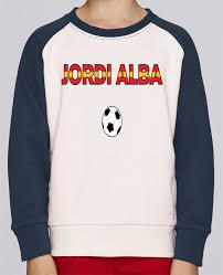 Sweat Shirt Col Rond Enfant Stanley Mini Contrast Jordi Alba par le  designer tunetoo