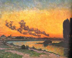 armand guillaumin soleil couchant à ivry sunset at ivry