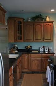 Brilliant Kitchen Wall Colors With Oak Cabinets Blue Walls Plus Not Sure If To Inspiration