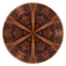 Circle Table Walnut Curl Expanding Circular Dining Table Johnson Furniture