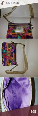 Coach Poppy Glam OP ART Crossbody, retired print! Excellent, like new  condition! Coach Bags Crossbody Bags