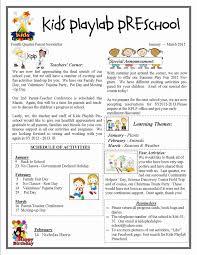 February Newsletter Template Pre K Newsletter Template Wilkesworks