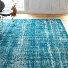 overdyed blue rug distressed rug blue green blue overdyed rug overdyed blue rug