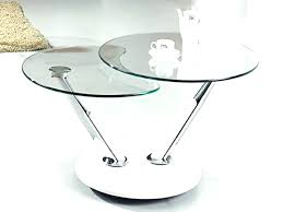small round coffee table glass top as black r