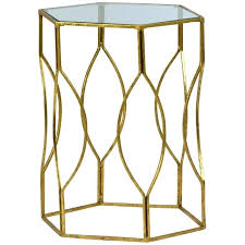 gold and glass side table uk round kitchen likable accent furniture excellent