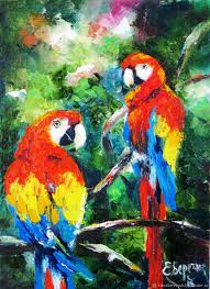 animal painting handmade livemaster handmade bright couple painting with oil on canvas