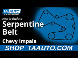 How To Replace Serpentine Belt 06 11 Chevy Impala