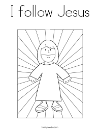 Small Picture I follow Jesus Coloring Page Twisty Noodle