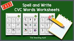 Our free phonics worksheets are colors, simple, and let kids understand phonics in a natural way through fun reading and speaking activities. Cvc Words Worksheets For Kindergarten The Teaching Aunt