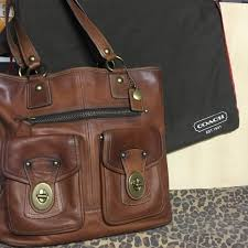 Coach Whiskey Brown Gigi Tote with Legacy Liner