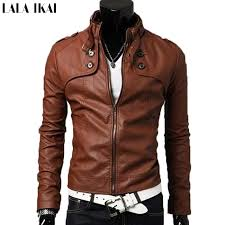 whole pu leather jacket men slim fit man jackets casual tops coat breathable men leather coats stand collar mens jackets sme011 5 direct from