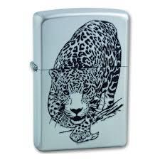 <b>Зажигалка ZIPPO Leopard</b> Satin Chrome, латунь с никеле ...