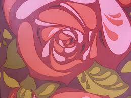 Grote Rode Bloemen Vintage Behangpapier Funkywalls Dé Webshop