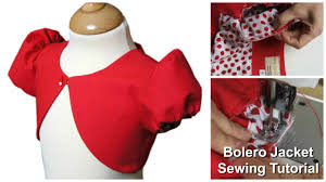 Bolero Jacket Pattern New How To Sew A Bolero Jacket For Girls Sewing Tutorial YouTube