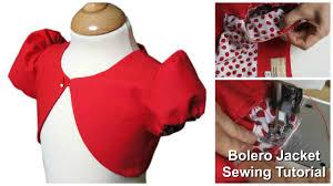 Bolero Jacket Pattern New How To Sew A Bolero Jacket For Girls Sewing Tutorial YouTube