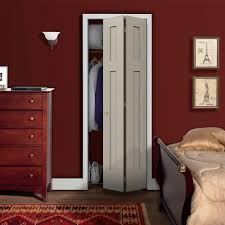 Complete the look of your decor with this JELD-WEN Smooth Three-Panel  Craftsman Hollow Core Molded Interior Closet Composite Bi-fold Door.