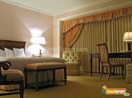 Box Pleated Bedroom Curtains