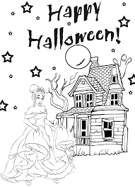 These disney coloring pdf pages are great party activities too. Halloween Princess Coloring Pages Coloring Home