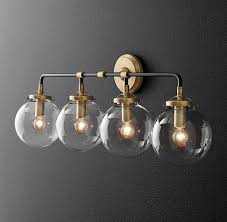 bathroom sconce lighting modern. simple bathroom bistro globe bath sconce 4 light to bathroom lighting modern