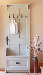 Lovely Corner Hall Tree With Storage Bench 100+ Ways To Use Old Doors. Entry