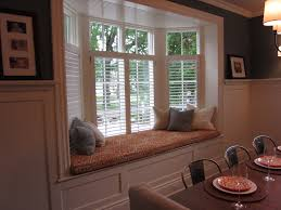 Interior  Decorating Bay Windows Cushions Chairs Dining Room - Bay window in dining room