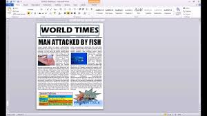 How To Create A Newspaper Template On Microsoft Word Newspaper Template For Word 2010 Inspirational Search