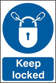 lock door sign. Keep Locked(Ref: 0353) Lock Door Sign F