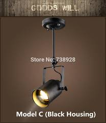 loft vintage led track lights wrought iron ceiling lamps clothing bar cob spotlight industrial american style