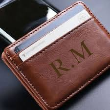 from 8 for a personalised leather wallet don t pay up to 69 16