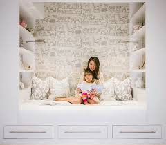 kids reading nook with shelves