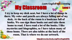 learn english via listening level unit my classroom  learn english via listening level 1 unit 68 my classroom