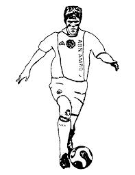 Voetballers Nederlands Elftal Kleurplaten Klaas Jan Huntelaar