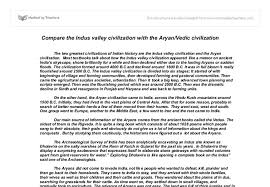 compare the indus valley civilization the aryan vedic  document image preview