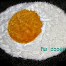 fried egg area rug warm white faux fur bear skin accent rug po