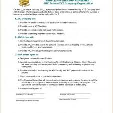 Template For Business Partnership Agreement New Partnership ...
