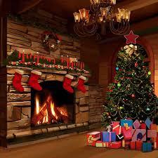 faux stone kirkland fireplace with decor