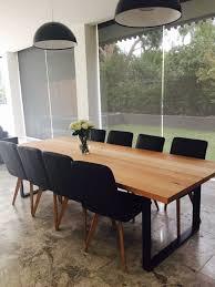 large handmade local vic oak ash dining table industrial steel loop leg in vic ebay