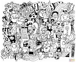 Small Picture Doodle Mash up coloring page Free Printable Coloring Pages
