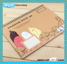 a4 size spiral style drawing notebooks for children cartoon printing design drawing books in notebooks from office supplies on