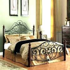 Wire Bed Frame Queen Wrought Iron Frames Size Full White Steel ...