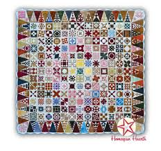 Dear Jane Wool Applique Kit Row of the Month or All at Once Quilt Kit & Dear Jane with Triangle Border - 85 inches square Adamdwight.com