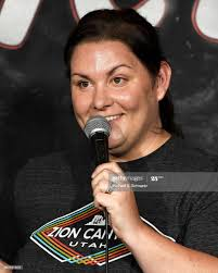 Comedian Jessica Campbell performs ...